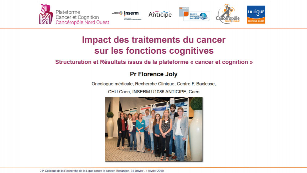 Cancer et fonctions cognitives - Florence JOLY